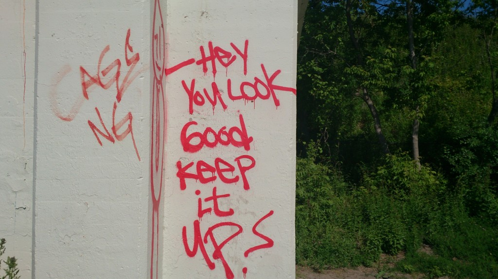 Motivational graffiti