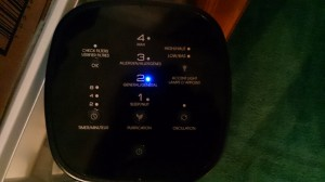 The AirGenius control panel