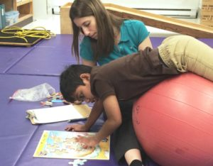 An occupational therapy session