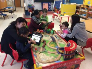 A Kindergarten class at Giant Steps school for children with autism